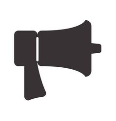 Black horn speaker symbol icon vector