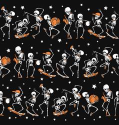 black orange dancing and skateboarding vector image