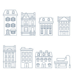 buildings and houses in european style vector image vector image