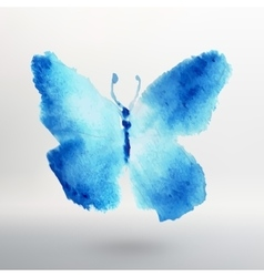 Butterfly watercolor drawing art isolated vector image vector image