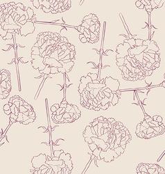 carnation filigran pattern vector image vector image