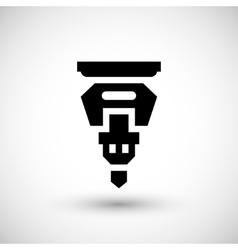 Drilling machine part icon vector