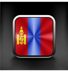 Flag Mongolia Accurate dimensions vector image