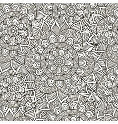 Floral ornament seamless pattern vector image vector image