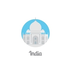 India landmark isolated round icon vector image vector image
