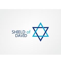 logo of star of David vector image vector image