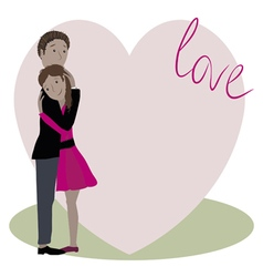 love story two vector image vector image