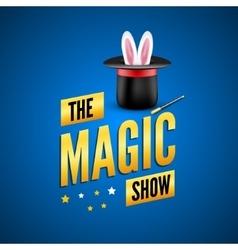 Magic poster design template magician logo vector