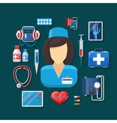 Medicine and healthcare vector image