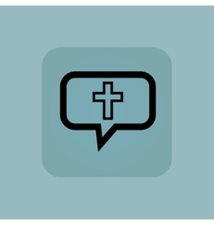 Pale blue christian cross message vector image vector image