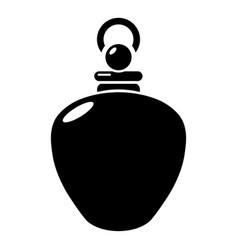 Perfume bottle merchandise icon simple black vector