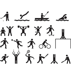 Pictogram people doing sport activities vector image