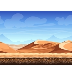 seamless background desert vector image vector image
