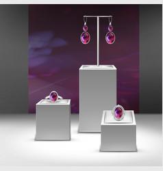 set of jewelry vector image