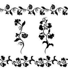 Silhouette design plant ornament vector