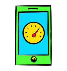 Smartphone with clock icon icon cartoon vector