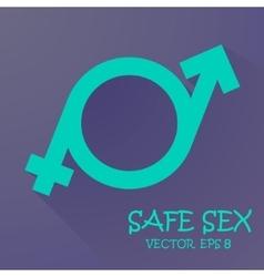 symbol of masculinity and femininity vector image