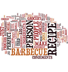 The perfect barbecue recipe text background word vector