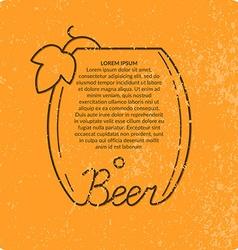 Vintage beer background vector