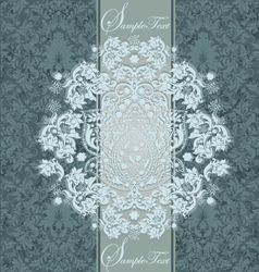 Damask wedding invitations vector