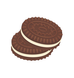 chocolate cookies dessert icon vector image