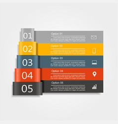 Infographic design template with place for data vector