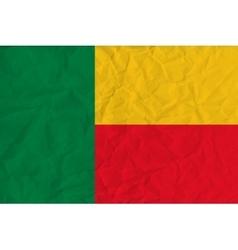 Benin paper flag vector image