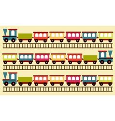 Train pattern toy background vector