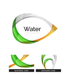 Abstract geometric water drop design vector