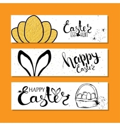 Colourful banners collection for easter with vector