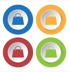 Set of four icons - handbag vector