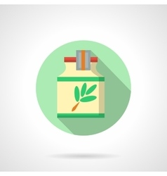 Herbal extract flat color design icon vector