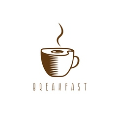 Concept breakfast template with fried eggs and vector