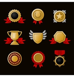 Achievement icons set vector image vector image