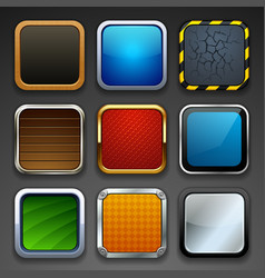 app buttons vector image vector image