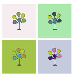 Balloons collection vector