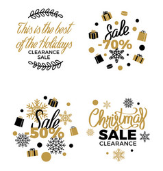 best christmas clearance discount labels poster vector image vector image