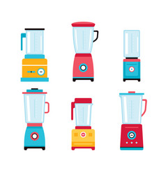 Blender juicer mixer kitchen appliance icon set vector