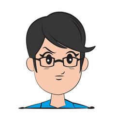 Cartoon character man young person vector