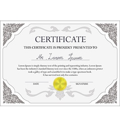 Certificate document template vector