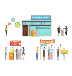 Charity design concept vector