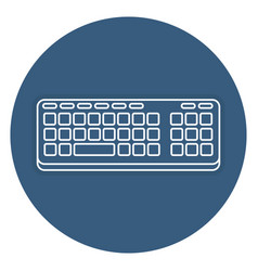 Computer keyboard isolated icon vector