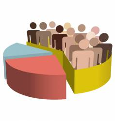 diverse group of people vector image vector image