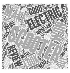 Electric scooter review word cloud concept vector
