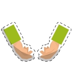 Empty hands in holding position icon image vector