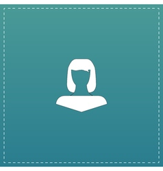 Girl icon head silhouette vector