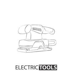 Hand drawn vibration sander vector