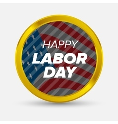 Labor day badge vector