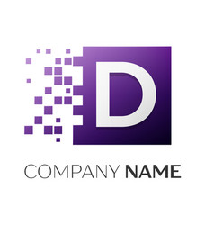 letter d logo symbol in the colorful square with vector image vector image