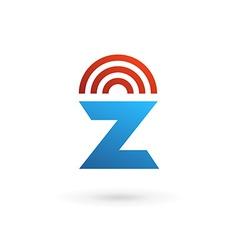 Letter z wireless logo icon design template vector